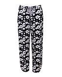 1712 TKD Lingerie Nightwear Cyberjammies Luna Floral Print Pant Black White
