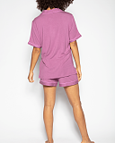 Aimee Revere Jersey Top And Short Dusky Pink TKD Lingerie Cyberjammies Fashion B1