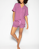 Aimee Revere Jersey Top And Short Dusky Pink TKD Lingerie Cyberjammies Fashion F2