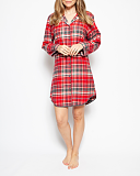 Belle Check Nightshirt Red Mix TKD Lingerie Cyberjammies WS1