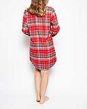 Belle Check Nightshirt Red Mix TKD Lingerie Cyberjammies WS2