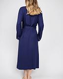 Ellie Jersey Long Dressing Gown Navy TKD Lingerie Cyberjammies Fashion B1