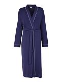 Ellie Jersey Long Dressing Gown Navy TKD Lingerie Cyberjammies Fashion CF1