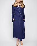 Ellie Jersey Long Dressing Gown Navy TKD Lingerie Cyberjammies Fashion F1