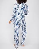 Ellie Leopard Print PJ Set White Mix TKD Lingerie Cyberjammies Fashion B1