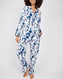 Ellie Leopard Print PJ Set White Mix TKD Lingerie Cyberjammies Fashion F1