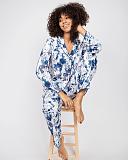 Ellie Leopard Print PJ Set White Mix TKD Lingerie Cyberjammies Fashion L2