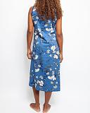 Heather Floral Print Nightdress Blue Mix TKD Lingerie Cyberjammies Nightwear Top B