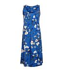 Heather Floral Print Nightdress Blue Mix TKD Lingerie Cyberjammies Nightwear Top CF1