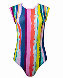 Juliet Capped Sleeved Swimsuit Rainbow TKD Lingerie Lilly Lime Fashion CF1