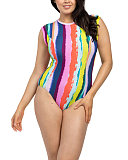 Juliet Capped Sleeved Swimsuit Rainbow TKD Lingerie Lilly Lime Fashion F1