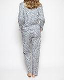 Laura Animal Print Top And Print Pant Grey Mix TKD Lingerie Cyberjammies WSB1