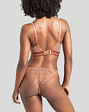 Non Wired Lyzy Vibe Triangle Bra And Brief Caramel TKD Lingerie Cleo Fashion B1