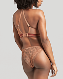 Non Wired Lyzy Vibe Triangle Bra And Brief Caramel TKD Lingerie Cleo Fashion B3