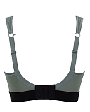 Non Wired Sports Bra Khaki Black TKD Lingerie Panache Fashion CB1