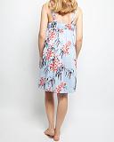 Olivia Leaf Print Strappy Chemise Blue Mix TKD Lingerie Cyberjammies Nightwear B