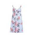 Olivia Leaf Print Strappy Chemise Blue Mix TKD Lingerie Cyberjammies Nightwear CF
