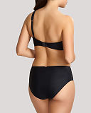 Onyx One Shoulder Moulded Bikini And Midi Pant Black TKD Lingerie Panache Swimwear Fashion B1