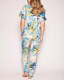 Phoebe Leaf Print PJ Set Blue Print TKD Lingerie Cyberjammies Fashion B1