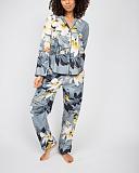 Rachel Floral Print PJ Set Grey Mix TKD Lingerie Cyberjammies Fashion F1