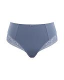 Roxie High Waist Brief Slate Blue TKD Lingerie Sculptress Fashion CF1