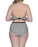 Sunseeker Bandeau Bikini And High Waist Brief Monochrome TKD Lingerie Curvy Kate Swimwear Fashion B1