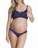TKD Lingerie Core Maternity Tea Non Wired Bra Navy F2