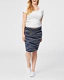 Tiramisu Maternity Skirt Navy Stripe TKD Lingerie Cake Maternity Clothing F1
