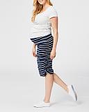 Tiramisu Maternity Skirt Navy Stripe TKD Lingerie Cake Maternity Clothing F3