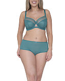 Victory Balcony Bra And Short Teal TKD Lingerie Curvy Kate Fashion F1