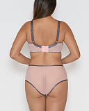 Victory Pin Up Balcony Bra And Short Grey Pink TKD Lingerie Curvy Kate Fashion B1