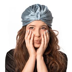 Silk Hair Turbans for Sleeping Coral Blue