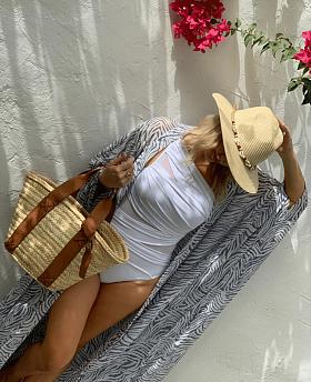 Belle Woven Long Sleeve Bauble Print Pyjama Set