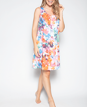 Aimee Abstract Floral Print Chemise