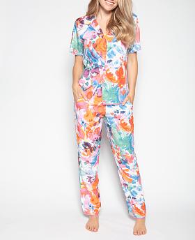 Aimee Abstract Floral Print Pyjama Set