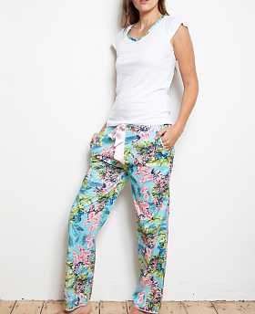 Caribe Flora Cotton PJ Set