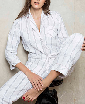 Cotton Lawn Check & Stripe PJ Set