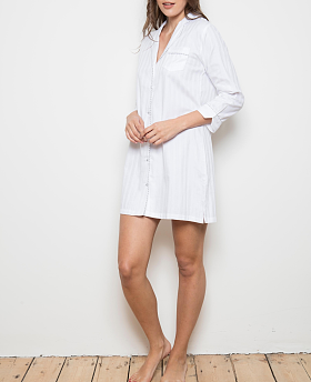 Superfine Cotton Shadow Stripe Shirt