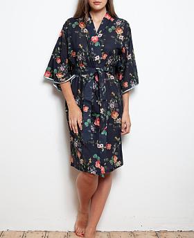 Deluxe Cotton Voile Hummingbird Kimono