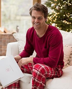 Frankie Jersey T-shirt and Brushed Check Pyjama Set