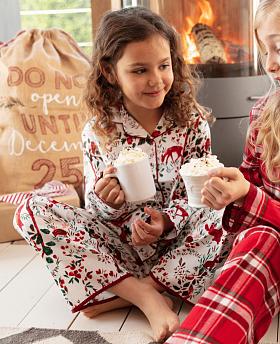 Girls Robyn Forest Print Pyjama Set