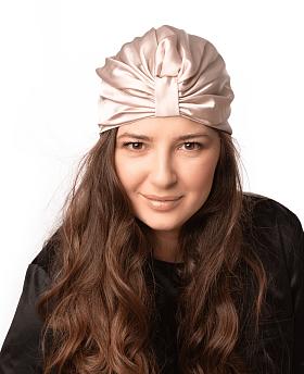 Silk Hair Turbans for Sleeping Champagne