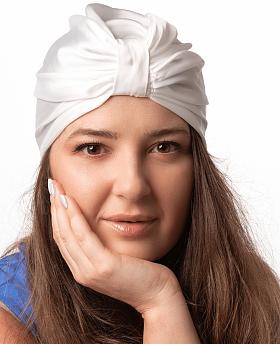 Silk Hair Turbans for Sleeping White