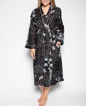 Hannah Ditsy Floral Print Long Robe