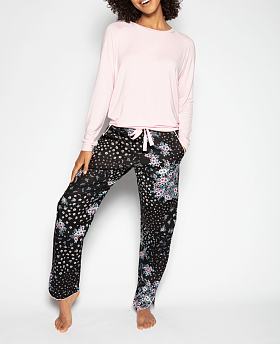 Hannah Slouch Top and Ditsy Floral Print Pyjama Set