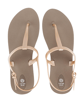 Journey Sandals Fawn/Aged Gold