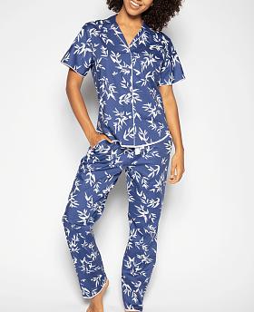 Libby Bamboo Leaf Print Pyjama Set