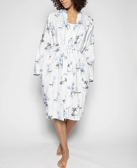 Molly Zebra Print Short Dressing Gown