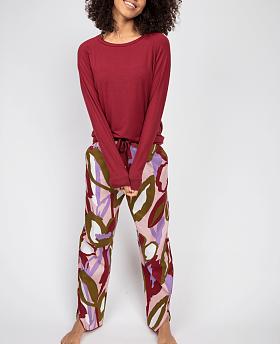Nina Slouch Jersey Top and Floral Print Pyjama Set