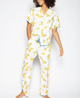 Phoebe Lemon Print Pyjama Set